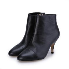 Chanel 2015 new style leather Boots CB066