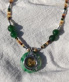 Happy Buddah Necklace. Starting at $10 on Tophatter.com! Hand made by me :)