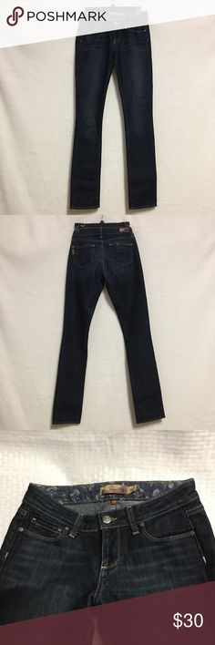 Paige Premium Denim Women's Jeans Size 25 Size 25  Dark wash  Straight leg  Great Condition   Measurements  Front Rise-8.5  Back Rise-11  Waist-25  Hips-17  Inseam-32  Out seam-41 PAIGE Jeans Skinny