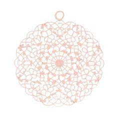 Bohemian hanger met oog roze