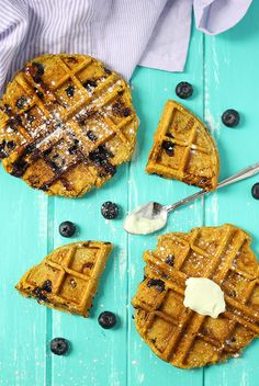These Sweet Potato Blueberry Waffles make the perfect breakfast for any season! With the freshness of blueberries and sweet and heartiness of sweet potatoes, you'll be eating this healthy, gluten-free waffle recipe year round! Sweet Potato Cinnamon, Sweet Potato Waffles, Delicious Breakfast Recipes, Yummy Food, Healthy Food, Healthy Recipes, Paleo Meal Prep, Paleo Diet, Waffle Maker Recipes
