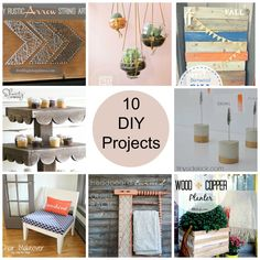Fabulous Finds Friday - 10 DIY Projects - Anything & EverythingAnything & Everything