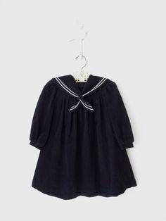 Toddler Sailor Dress // Vintage Laura Ashley by sparvintheieletree