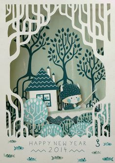 Rozenn Bothuon works: paper cut - pop up
