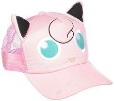 02a13cea793 Bioworld Pokemon Jigglypuff Big Face Snapback Trucker Hat
