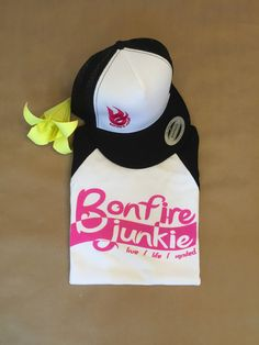 Girl's baseball jersey tee / hot pink by Bonfire Junkie