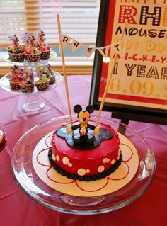 Mickey Mouse 1st birthday party cake!
