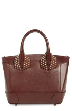 Christian Louboutin 'Small Eloise' Studded Calfskin Satchel available at #Nordstrom