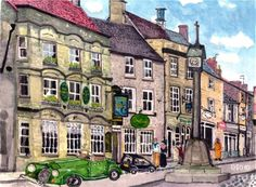 "David Oatley;, ""Stow on the Wold Market Place"" #art"