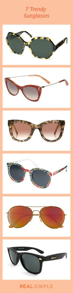 Shield your eyes with one of these cool sunglasses that complement your face.