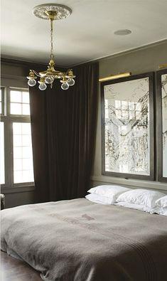 Bedroom ; verde escuro