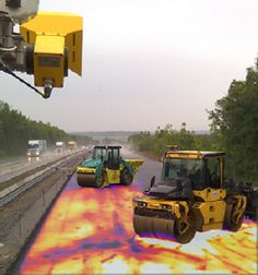 MOBA- Intelligent Paving: PAVE-IR measures asphalt temperature in real-time.