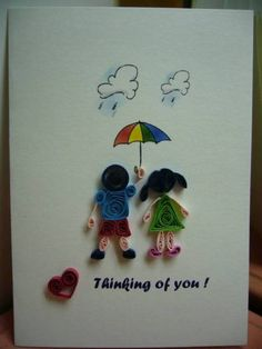 Raining Days - Puppy Love - Quilled Creations Quilling Gallery