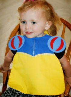 Puff Sleeve Princess Toddler Bib  PDF Pattern by SewTuti on Etsy, $4.99