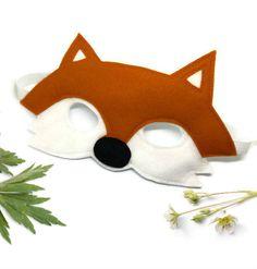 Fox Mask - Woodland Mask - Animal Mask - Fox Costume - Woodland Animal Party - Animal Costume - Fox Disguise - Felt Mask by AisforAliceShop on Etsy