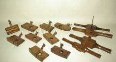 Collection of Rare Woodworking Carpentry Planes T Rebate Router Grannies Tooth