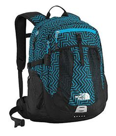 The North Face Recon Hiking Backpack (Meridian Blue Geo Maze Print) - Click image twice for more info - See a larger selection of school backpacks at http://kidsbackpackstore.com/product-category/school-backpacks/ - kids, kids backpack, school backpack, everyday backpack, school bag, gift ideas, teens backpacks.