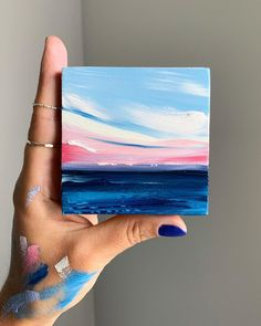 Oak Bluffs Romance Oil on Panel Small Canvas Paintings, Small Canvas Art, Mini Canvas Art, Small Art, Diy Canvas, Art Paintings, Landscape Paintings, Art Painting Gallery, Oil Painting Abstract