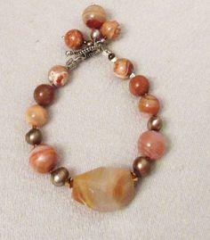 Botswana Agate Bracelet Handmade Bracelet by DesignDimensions