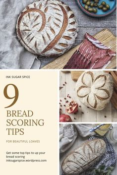 top tips for bread scoring art! Up your bread game and make beautiful loaves. Ink Sugar top tips for bread scoring art! Up your bread game and make beautiful loaves. Artisan Bread Recipes, Sourdough Recipes, Sourdough Bread, Cornbread Recipes, Jiffy Cornbread, Yeast Bread, Bread Oven, Art Du Pain, Food Design