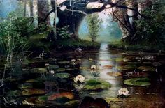 Pond with Water Lilies (1893) by Julius Klever (Russian: Юлий Юльевич Клевер; b. 31 January 1850; Dorpat, Russian Empire – d. 24 December 1924; Leningrad, Soviet Union) Oil on canvas. Private collection. https://en.wikipedia.org/wiki/Julius_von_Klever