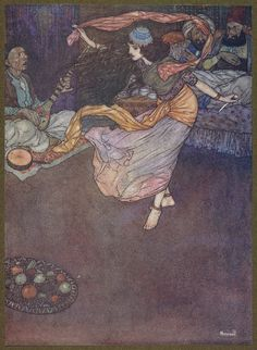 Then for the last figure of all she drew out the dagger. (Edmund Dulac)