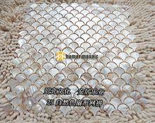 Natural escama de peixe forma de leque shell mãe de pérola MOP mosaic tiles HMSM2003 chuveiro cozinha backsplash parede do banheiro telhas de assoalho(China (Mainland))