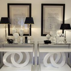 Gorgeous black and white styling