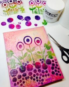 Layering patterns and designs with transparent stamped collage layers. Make your own stamped layers! Create your own original transparent collage papers!