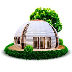 Dome house!!                                                                                                                                                                                 More