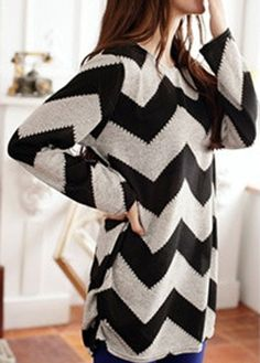 Chevron loose sweater