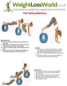 Flat Tummy Workout: Get a flatter stomach fast with this fat-burning circuit 3 times / week. Perform each move for 30 seconds, then rest for a minute and repeat through twice more. Warm up first. #diet #weightloss #burnfat #bestdiet #loseweight #diets