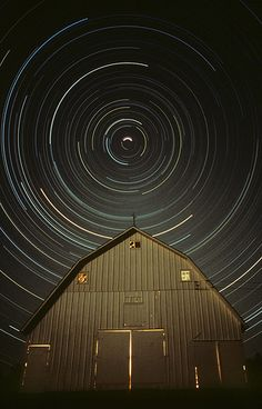 North Star Over Barn