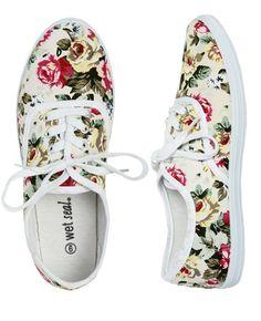 Floral Tennis Shoe