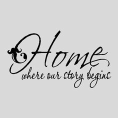 Home Where Our StoryWall Quotes Words Sayings by eyecandysigns, $14.99