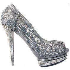 Le silla sparkling Pumps #LeSilla #Shoes #HighHeels