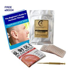 MultiCondition Ear Seed Kit 600 counts eBook Placement Chart Probe Acupuncture Ear Chart >>> To view further for this item, visit the image link.