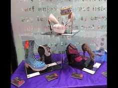 On display now until the 22nd September at Billericay Library for the Billericay Art Trail. They are also all available for sale on my website www.chelise.co.uk  #billericayarttrail #billericay #billericaylibrary #billericayart #arttrail #essexsummerofart #enas #carouselhorseshoes #knuckledustershoes #mermaidboots #skullwedges #snakeshoes #lasvegasshoes #shoedisplay #shoeart