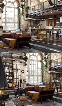 Home Designing - (over 40 incredible lofts that push boundaries - home design id. - Home Designing – (over 40 incredible lofts that push boundaries – home design ideas # - Industrial Interior Design, Industrial House, Home Interior Design, Interior Architecture, Industrial Style, Industrial Loft Apartment, Industrial Furniture, Industrial Interiors, Industrial Farmhouse