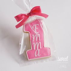 Personalized First Birthday Cookie Favors  //  One Dozen Sugar Cookies on Etsy, $36.00