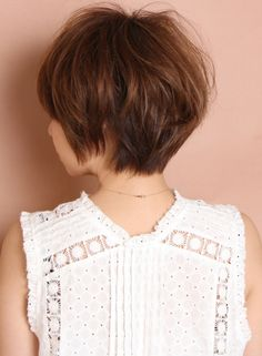 大人の柔らかキュートショート(髪型ショートヘア)