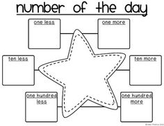 Number of the Day FREEBIE. Laminate it so it can be erased and used daily during calendar math! could be modified for older students too using multiplication or squaring Math Classroom, Kindergarten Math, Teaching Math, Preschool, Guided Maths, Fun Math, Math Games, Math Activities, Daily 5 Math