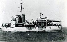 Canhoneira Mandovi II (1917-1953). No Funchal, Madeira esteve  de 6 de Outubro de 1918 a 17 de Outubro de 1918.