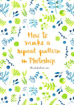 Photoshop // how to make a repeat pattern in Photoshop