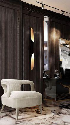 Modern Classic Interior, Best Interior Design, Contemporary Home Furniture, Contemporary Interior Design, Modern Design, Modern Hallway, Luxury Furniture Brands, Black And White Living Room, Luxury Living