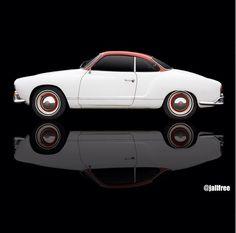 White and Red Karmann Ghia