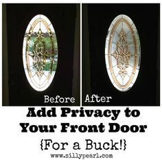 Add Privacy to Your Front Door For a Dollar - The Silly Pearl