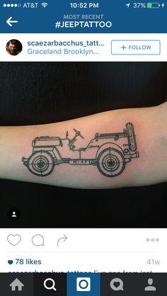 Jeep tattoo Jeep Tattoo, I Tattoo, Cool Tattoos, Jeep Wrangler, Jeep Jeep, Compass Tattoo, Jeep Stuff, Ink, Tattoo Ideas
