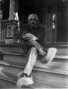 Einstein in fuzzy slippers