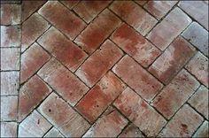 Brick floor in greenhouse